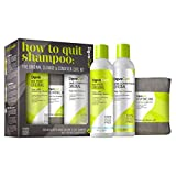 DevaCurl How to Quit Shampoo: Cleanse & Condition Curl Kit Mujeres Champú 236ml - Champues (Mujeres, Champú, Pelo rizado, 236 ml, Make sure to vigorously work No-PooTM throughout the scalp and continue that vigorous motion while...)
