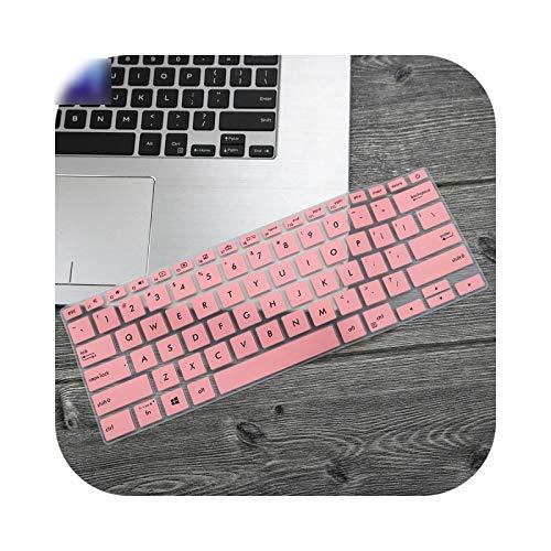 Funda de teclado para ordenador portátil de 14 pulgadas para Asus ZenBook 14 UX433 UX433FN UX433FAC UX433FA8265 2019 (piel de protección), color rosa