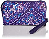 Vera Bradley Women's Signature Cotton RFID Front Zip Wristlet , Regal Rosette, One Size