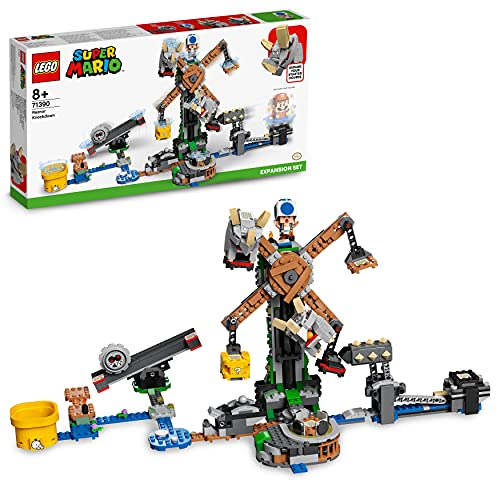 LEGO 71390 Super Mario Reznor Knockdown Expansion Set, Collectible Buildable Game Toy for Kids