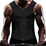 Wiitek Men Waist Trainer Corsets with Steel Bone Sweat Belt Sauna Suit for Fitness