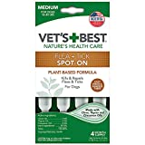 Vet's Best Topical Flea & Tick Treatment for Dogs 16-40lbs, 4 Month Supply