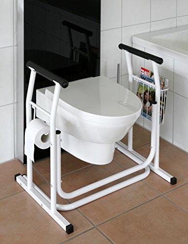 WC-Aufstehhilfe-mobiles Toiletten Stützgestell Haltegriff für Bad Stützgriff Halteschiene
