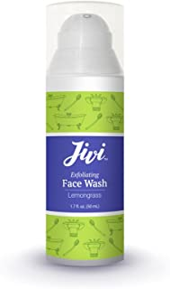 Exfoliating Face Wash (Lemongrass) | Cream Cleanser that Removes Makeup and Tones | 100% Natural with Organic Ingredients | Made for Sensitive and Dry Skin | 1.7 fl. oz.