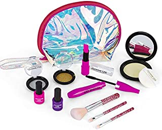Kids Makeup Set 11PCS Make up Set Toy with Cosmetic Bag Role Play Toys Birthday Gift for Girls