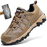 Zapatos de Seguridad para Hombre con Puntera de Acero Zapatillas de Seguridad Trabajo, Calzado de Industrial y Deportiva(A Negro,44 EU)