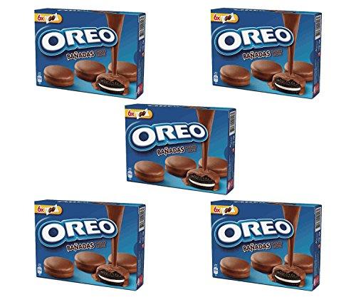 Oreo bañadas chocolate con leche 246 gr. - [Pack de 5]