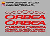 Ecoshirt, O8-BE95-IMF3, Pegatinas Orbea F208 Stickers Aufkleber Decals Adesivi Bicycle Bike MTB BTT, Rojo