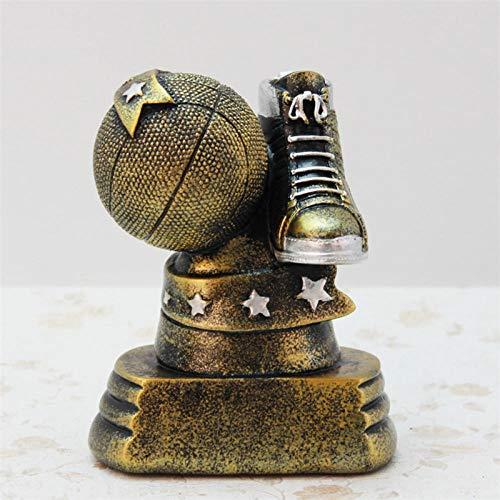 LJXLXY Hars Creatieve Goud Basketbal Trofee Beeldjes Grote Hars Meubelen Ambacht Voor Vriend Thuis Tafel Basketbal Stijl Ornament