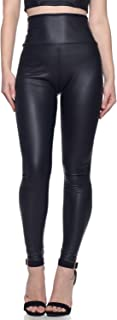 Women's Faux Leather High Waist Leggings