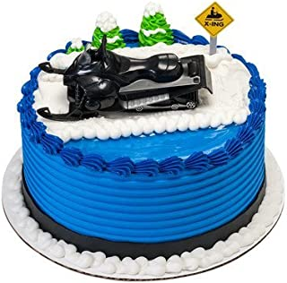A1 Bakery Supplies Snowmobile Cake Topper Decorating Set