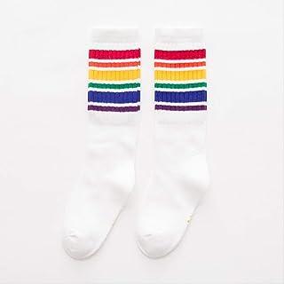 QZHYGE, QZHYGE 1 par de Calcetines para niños de algodón para niños y niñas Calcetines Largos Calcetines para el Piso del bebé bebé en el Tubo Medias de Primavera y otoño