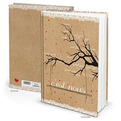 Familien-Stammbaum FRANZÖSISCH C'EST NOUS Familienbuch Stammbaum-Buch Familienbaum Familien-Album Geschenk Notizbuch Tagebuch Familiengeschichte