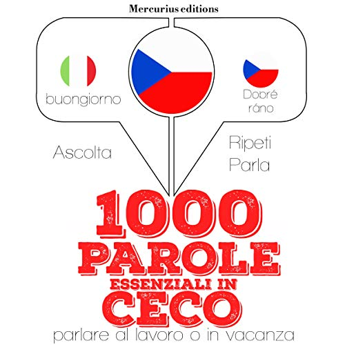 1000 parole essenziali in Ceco audiobook cover art
