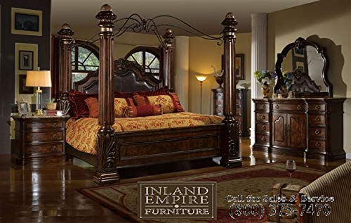 Inland Empire Furniture Giana Cal. King Adult Canopy Bed Set