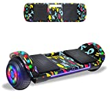 Beston Sports Newest Generation Electric Hoverboard Dual Motors Two Wheels Hoover Board Smart self Balancing Scooter with Built in Speaker LED Lights for Adults Kids Gift (-Image 1)