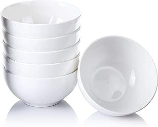 Alt-Gt Porcelain Bowls Set,Ceramic Bowls Set with Microwave Dishwash Safe For Cereal/Salad/Pasta/Soup/Rice/Dessert/Fruit - 6 Packs,5.5 Inches 22 Oz,White
