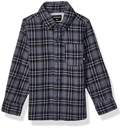 Quiksilver Jungen INCA Gold Check Long Sleeve Boys Woven Button Down Hemd, Luftblaues Inka-Karo, 7X