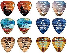 Christian Guitar Picks Popular Bible Verses -12 Pack Celluloid Medium - Cool Acoustic Electric guitar Accessories - Unique...