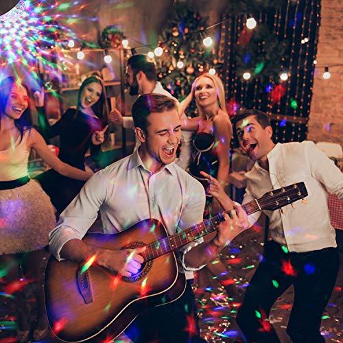 LED Discokugel Kinder OMERIL Discolicht Musikgesteuert Disco Lichteffekte RGB Partylicht, Zeitgesteuertes USB Stimmungslicht mit 7 Farben, 4 Helligkeiten und Fernbedienung für Kinder, Zimmer, Party - 2