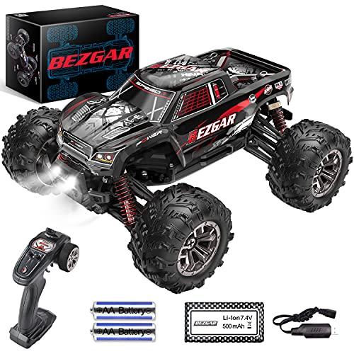 BEZGAR Remote Control Truck-9145 High Speed All TerrainsOff Road RC Monster Car,More Extended Run Time for Boys and Girls