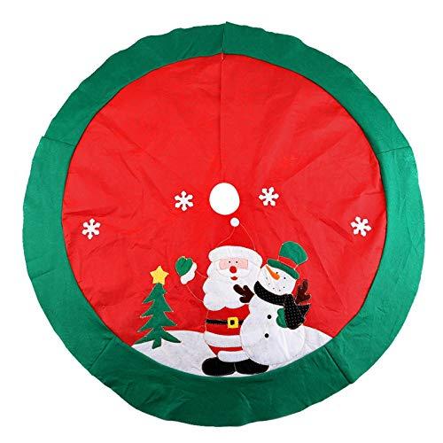 Kranich Weihnachtsbaumrock, Weihnachtsbaumdecke Christbaumdecke Weihnachtsbaum Röcke rote Weihnachtsbaumröcke Schürze Ornamente für Weihnachtsdekoration (100cm)