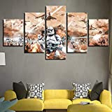 DIOPCCE Set of 5 Pieces Canvas Painting Wall Art Star Wars Movie kidsWall Pictures and Prints Home DecorationSuitable for Office Hotel Living roomSuitable for Women and Children-Frameless