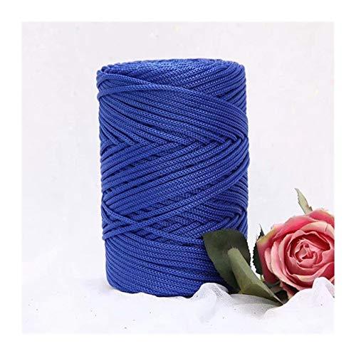 XINSHENG Store 230G / Häkeln Wool Licht Viscose Eisseide 3mm Hohlnylonfaden for Sonnenhut Handhaken (Farbe : Royal Blue)