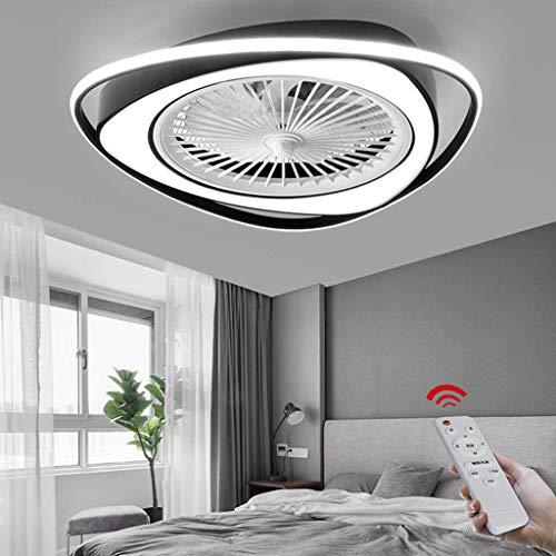Ventilador De Techo LED Con Iluminación Lámpara De Techo De 38 W Regulable Con Control Remoto Velocidad Del Viento Ajustable Dormitorio Sala De Estar Ventilador Silencioso Invisible Lámpara De Techo