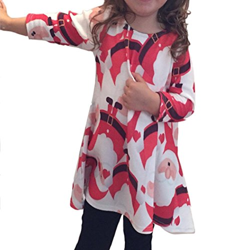 Tonwalk - Robe - Moderne - Manches longues - Bébé (fille) 0 à 24 mois Rouge Rouge 2-3 Years - Rouge - 4-6 ans