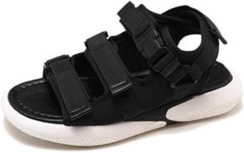 JOYBI Women Platform Sandals Open Toe Slip On Thick Soled Hook Loop Summer Buckle Comfort Casual Flat Sandal