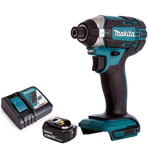 Makita DTD152Z - Destornillador de impacto inalámbrico LXT de 18 V con 1 batería de 4,0 Ah y cargador