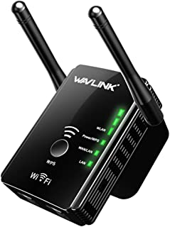 WAVLINK Wifi Range Extender Repeater, N300 Universal Router Wireless Access Point Wireless Signal Booster with 2 External ...