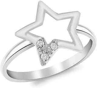 Tuscany 银星星戒指