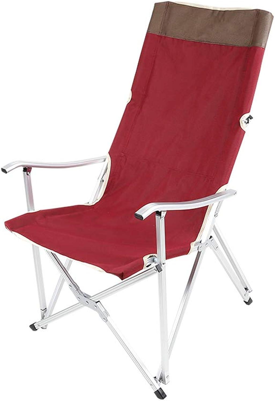 Camping Chair High Back Folding Chair, Armchair, Portable Hiker Beach Fishing Camping Sketch Chair (red) Maximum Load 110-120KG