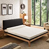 NOFFA <span class='highlight'>Memory</span> <span class='highlight'>Foam</span> <span class='highlight'>Mattress</span> Topper with Cover, Includes Ultra Soft Removable Cover with Adjustable Straps (135 x 190cm)
