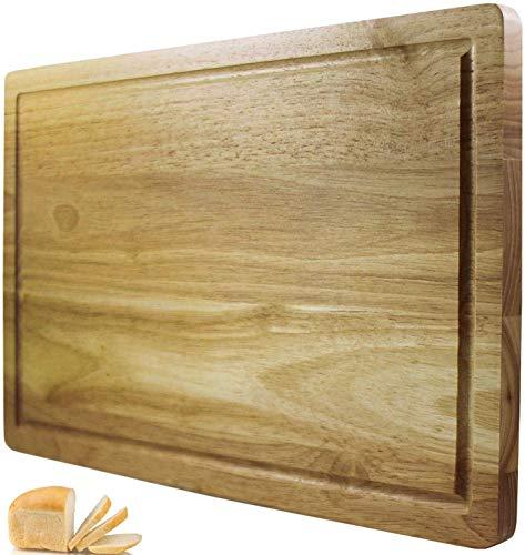 Planche à découper Chef Remi – Meilleur bloc à découper – Grand ustensile de cuisine 41x25 cm – Plus solide que le plastique ou le bambou – Approuvé par les bouchers