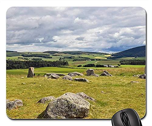 Alfombrilla Ratón Escocia Aberdeenshire DEE-Tal Stone Circle Old Alfombrilla Escritorio De Oficina Cómodo Alfombrilla Gaming para Familia Ratón con Cable 25X30Cm