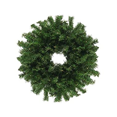 Darice 24  Canadian Pine Artificial Christmas Wreath - Unlit