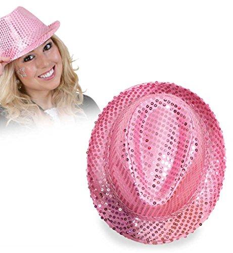 Carnaval chapeau 38584 paillettenhut rose-taille 58 à paillettes neuf/emballage d'origine