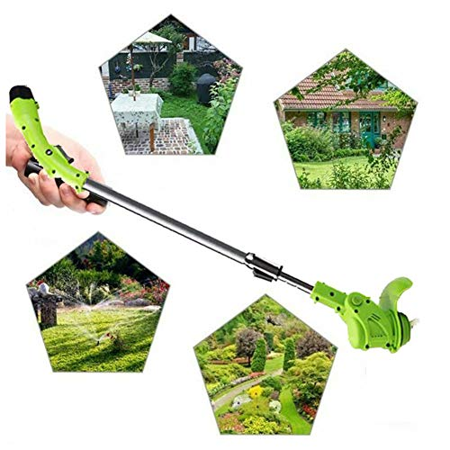 Cheapest Prices! Hfoobsa Cordless Strimmer Electric Adjustable Second Handle Telescopic Lightweight ...
