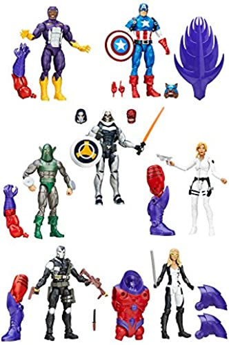 DISNEY MARVEL Comics LEGENDS CAPTAIN AMERICA Actionfiguren - komplette Wave 1 - u.a. mit CAPTAIN AMERICA, TASKMASTER, SHARON CARTER und andere