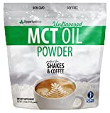 MCT Oil Powder - Bulk 2.5 lb Size - Delicious Creamer for Coffee, Tea, Smoothie, Recipe - Perfect Supplement for Keto, Ketogenic Diet - Easy Digestion & Instant Energy - Non GMO, Gluten & Soy Free