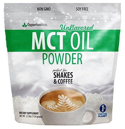 MCT Oil Powder - Bulk 2.5 lb Size - Delicious Creamer for Coffee, Tea, Smoothie, Recipe - Perfect Supplement for Keto, Ketogenic Diet - Easy Digestion & Instant Energy - Non GMO, Gluten & Soy Free 1