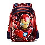 Xicks Mochila estudiantil American Captain Iron Man 1er to 4º grado mochila estudiantil, tamaño: 42 cm x 30 cm x 18 cm