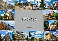 Freital Impressionen (Wandkalender 2022 DIN A4 quer): Zu Besuch in der grossen Kreisstadt Freital (Monatskalender, 14 Seiten )