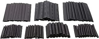 mzs tec Shrinkage 127 Pcs Glass Thermal Insulation Sheath Car Wrap Electric Hose Cable Kit Heat Shrink Tubing Tubes Wrap Sleeve Assorted