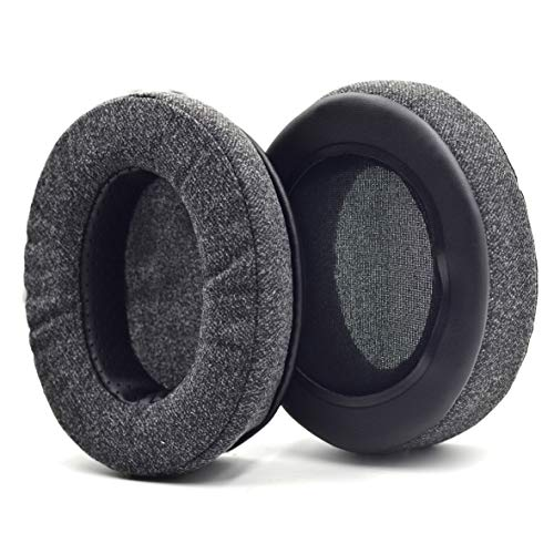 Defean Upgrade Ear Pads Replacement Gray Flannel Memory Foam Softer Foam Compatible with Audio-Technica M20 M20X M25 SX1 M30 M30X M30s M35 M40 M40X M40s M50 M50X M50s MSR7 PRO5 WS770 T500 Headphone