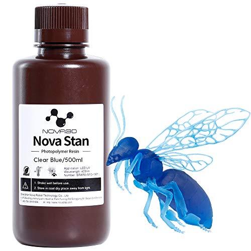 NOVA3D LCD UV 405nm Rapid 3D Resin for LCD DLP 3D printer Photopolymer Resin Transparent-Blue, 500g