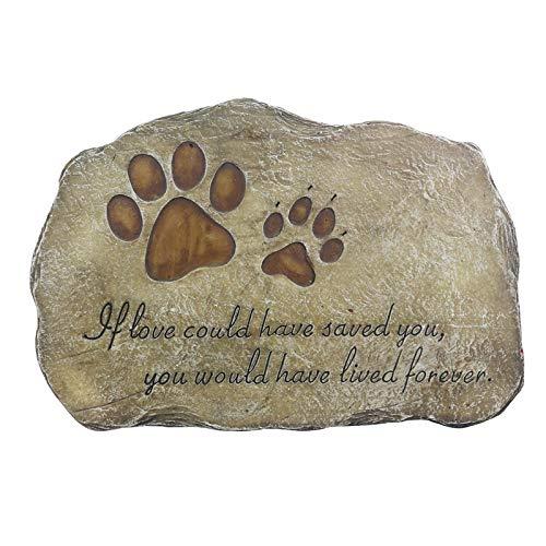 Huaxingda Piedras conmemorativas para mascotas, huellas de mascotas, piedras conmemorativas para perros, lápidas al aire libre o en interiores para jardín